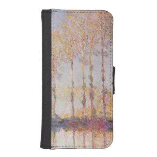 Coque Avec Portefeuille Pour iPhone 5 Peupliers de Claude Monet | sur les banques de