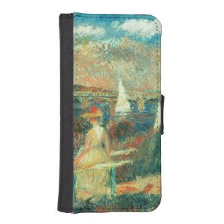 Coque Avec Portefeuille Pour iPhone 5 Pierre banques de Renoir un | de la Seine à