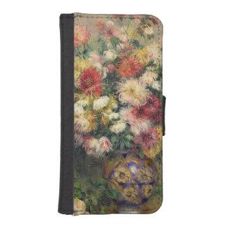 Coque Avec Portefeuille Pour iPhone 5 Pierre dahlias de Renoir un |