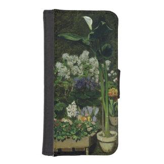 Coque Avec Portefeuille Pour iPhone 5 Pierre fleurs de Renoir un | en serre chaude