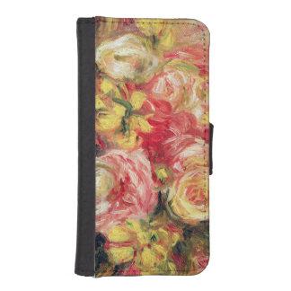 Coque Avec Portefeuille Pour iPhone 5 Pierre roses de Renoir un  