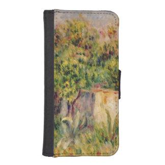 Coque Avec Portefeuille Pour iPhone 5 Pierre un cabine de Renoir | dans une clairière
