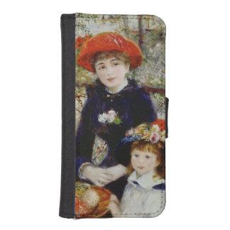 Coque Avec Portefeuille Pour iPhone 5 Pierre un Renoir | deux soeurs, ou sur la terrasse