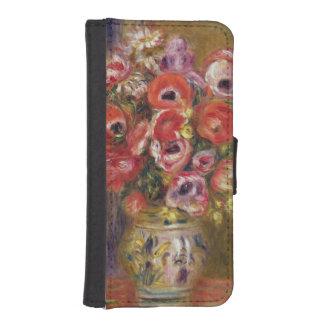 Coque Avec Portefeuille Pour iPhone 5 Pierre un vase à Renoir | de tulipes et d'anémones