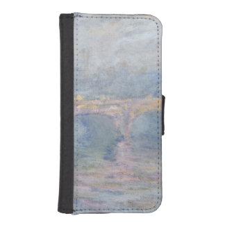 Coque Avec Portefeuille Pour iPhone 5 Pont de Claude Monet | Waterloo, Londres, au
