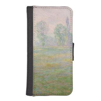 Coque Avec Portefeuille Pour iPhone 5 Prés de Claude Monet | en Giverny, 1888