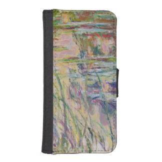 Coque Avec Portefeuille Pour iPhone 5 Réflexions de Claude Monet | sur l'eau, 1917