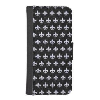 COQUE AVEC PORTEFEUILLE POUR iPhone 5 RYL1 BK-WH (R) DE MARBRE