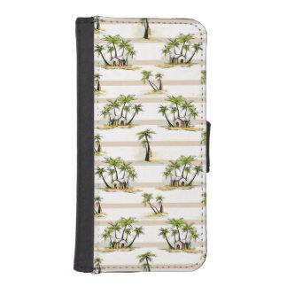 Coque Avec Portefeuille Pour iPhone 5 Shack tropical et paumes