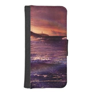 Coque Avec Portefeuille Pour iPhone 5 Sur l'horizon du Fractalscape infini