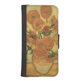 Coque Avec Portefeuille Pour iPhone 5 Tournesols de Vincent van Gogh |, 1889