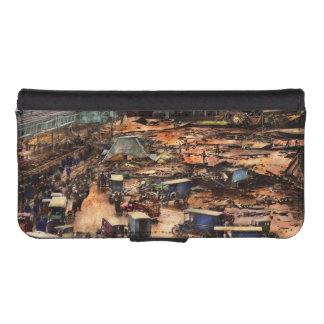 Coque Avec Portefeuille Pour iPhone 5 Ville - Boston mA - la grande inondation 1919 de