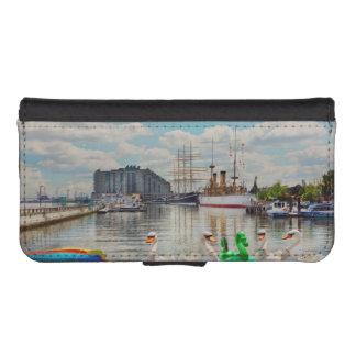 Coque Avec Portefeuille Pour iPhone 5 Ville - Philadelphie, PA - le lieu de