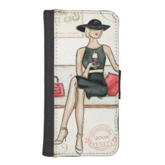Coque Avec Portefeuille Pour iPhone 5 Vin potable de Fashionista