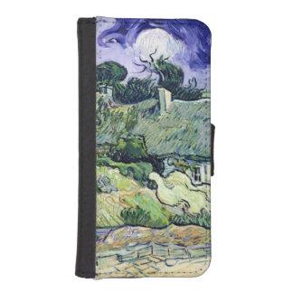 Coque Avec Portefeuille Pour iPhone 5 Vincent van Gogh | a couvert des cottages de