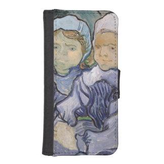 Coque Avec Portefeuille Pour iPhone 5 Vincent van Gogh | deux petites filles, 1890