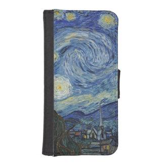 Coque Avec Portefeuille Pour iPhone 5 Vincent van Gogh | la nuit étoilée, juin 1889