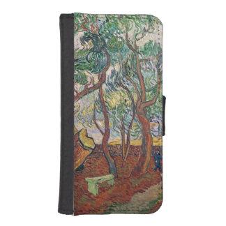 Coque Avec Portefeuille Pour iPhone 5 Vincent van Gogh | le jardin de l'hôpital de St