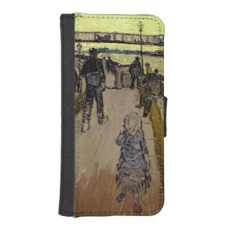 Coque Avec Portefeuille Pour iPhone 5 Vincent van Gogh | Le Pont de Trinquetaille Arles