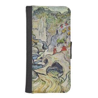Coque Avec Portefeuille Pour iPhone 5 Vincent van Gogh | le ravin du Peyroulets