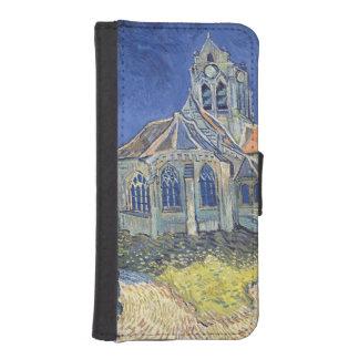 Coque Avec Portefeuille Pour iPhone 5 Vincent van Gogh | l'église à l'Auvers-sur-Oise