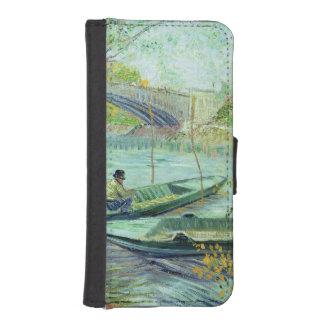 Coque Avec Portefeuille Pour iPhone 5 Vincent van Gogh | pêchant au printemps