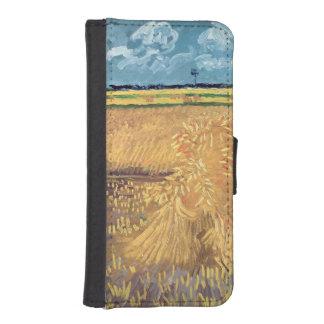 Coque Avec Portefeuille Pour iPhone 5 Wheatfield de Vincent van Gogh | avec des gerbes,