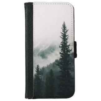Coque Avec Portefeuille Pour iPhone 6 Au-dessus des montagnes et de la cuvette les bois