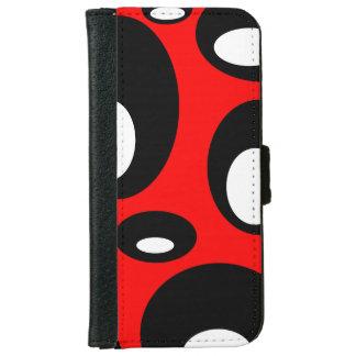 Coque Avec Portefeuille Pour iPhone 6 Bulles - Rouge