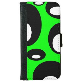 Coque Avec Portefeuille Pour iPhone 6 Bulles - Vert