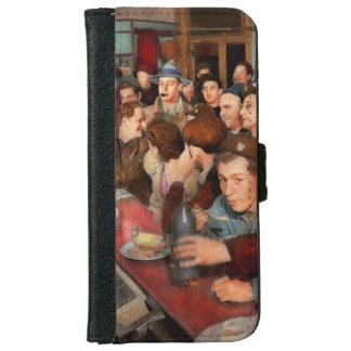 Coque Avec Portefeuille Pour iPhone 6 Café - Munchies de minuit 1943