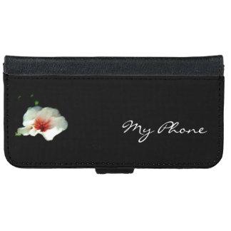 Coque Avec Portefeuille Pour iPhone 6 Caisse blanche de téléphone de géranium