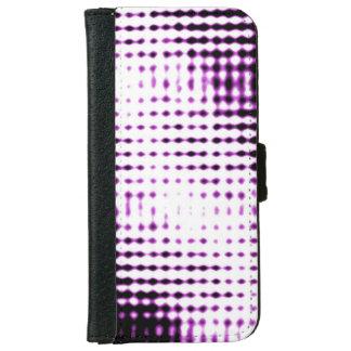 Coque Avec Portefeuille Pour iPhone 6 Cas futuriste de téléphone de style - pourpre