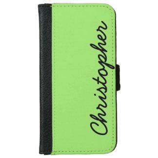 Coque Avec Portefeuille Pour iPhone 6 CHOISISSEZ VOTRE coutume de COULEUR ou de vert de