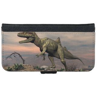 Coque Avec Portefeuille Pour iPhone 6 Dinosaure de Concavenator dans le désert