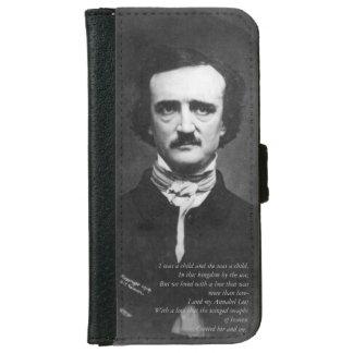 Coque Avec Portefeuille Pour iPhone 6 Edgar Allen Poe avec la citation