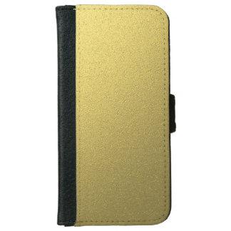 Coque Avec Portefeuille Pour iPhone 6 Effet métallique d'aluminium d'or