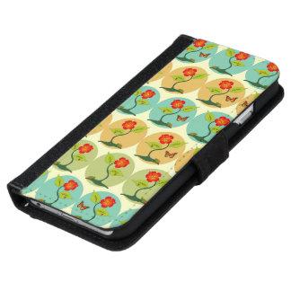 Coque Avec Portefeuille Pour iPhone 6 Fleurs et motif de bulles