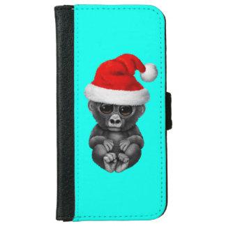 Coque Avec Portefeuille Pour iPhone 6 Gorille de bébé utilisant un casquette de Père