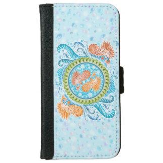 Coque Avec Portefeuille Pour iPhone 6 Harmonie des mers, boho, hippie, de Bohème