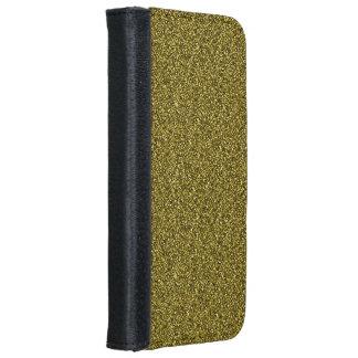 Coque Avec Portefeuille Pour iPhone 6 iPhone de parties scintillantes d'or 8/7 caisse de