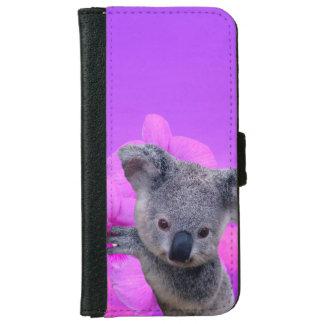 Coque Avec Portefeuille Pour iPhone 6 Koala et orchidées