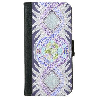Coque Avec Portefeuille Pour iPhone 6 Naissance de la vie, nouvel âge, méditation, boho,