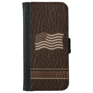 Coque Avec Portefeuille Pour iPhone 6 Obscurité simili cuir de drapeau des Etats-Unis