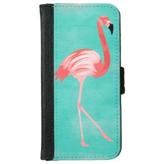 Coque Avec Portefeuille Pour iPhone 6 Oiseau de flamant