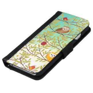 Coque Avec Portefeuille Pour iPhone 6 Oiseaux d'automne