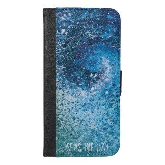 Coque Avec Portefeuille Pour iPhone 6 Plus Art abstrait de vague côtière de plage