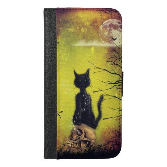 Coque Avec Portefeuille Pour iPhone 6 Plus black cat