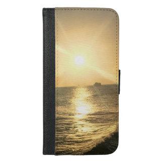 Coque Avec Portefeuille Pour iPhone 6 Plus Caisse de téléphone personnalisée par plage