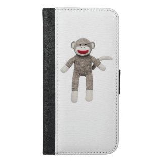 Coque Avec Portefeuille Pour iPhone 6 Plus Cas de téléphone de singe de chaussette
